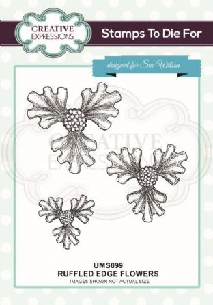 Stamp Set - Ruffled Edge Flowers Pre Cut Stamp Set